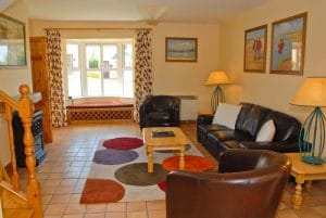 Lounge at Dingle Marina Cottages