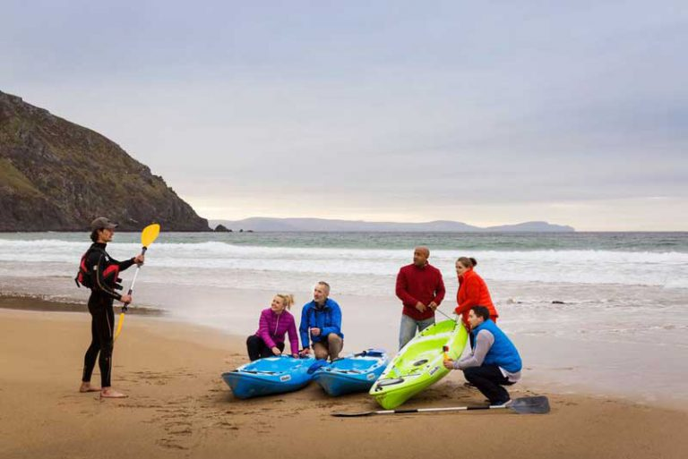 kayaking on beach dingle peninsula