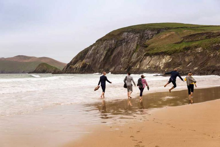walking on beach dingle peninsula